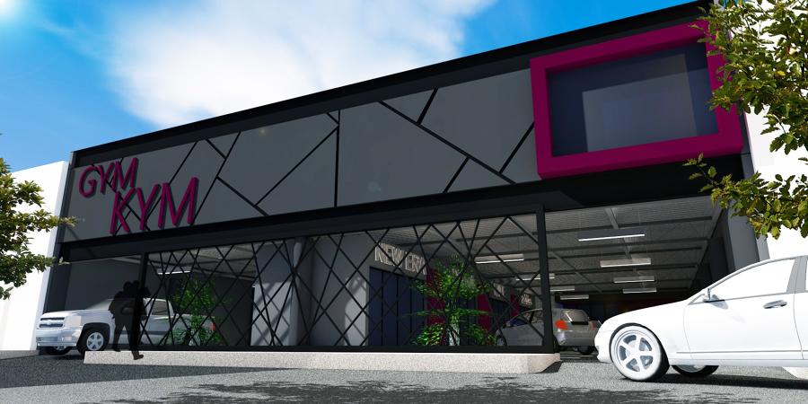 Locales comerciales estacionamiento y gimnasio ideas for Fachadas de almacenes modernos