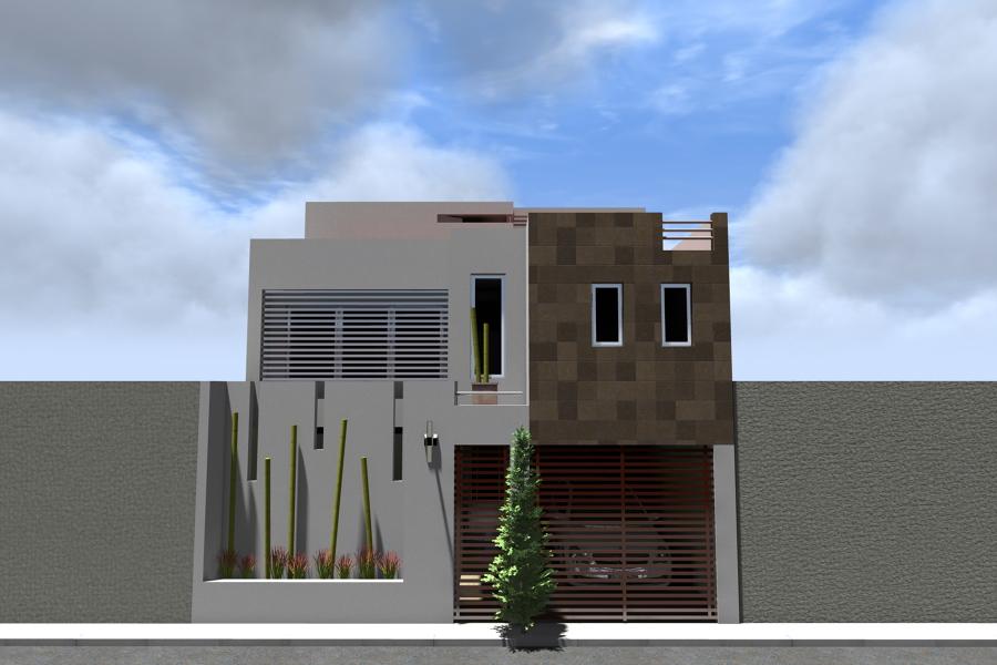 Foto fachada casa habitaci n de adda arquitectura y for Proyectos minimalistas