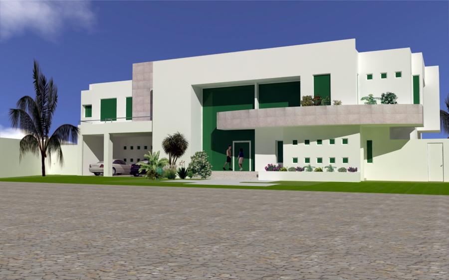 Foto fachada frontal de grupo gelhs 17688 habitissimo for Casa minimalista tlalpan