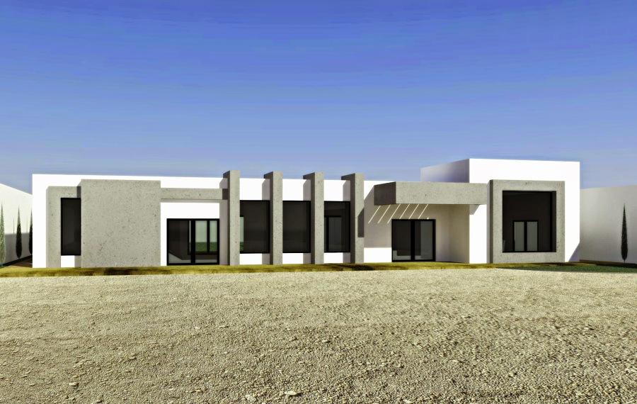 Anteproyecto de hacienda minimalista ideas construcci n casa for Construccion minimalista casas