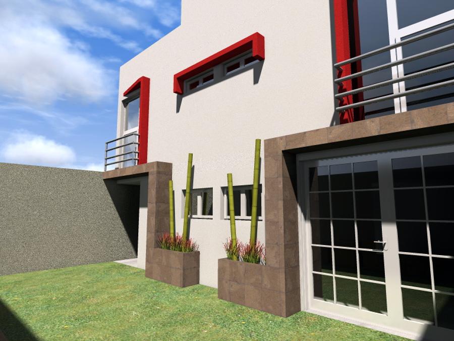 Foto fachada posterior casa habitaci n de adda for Proyecto casa habitacion minimalista