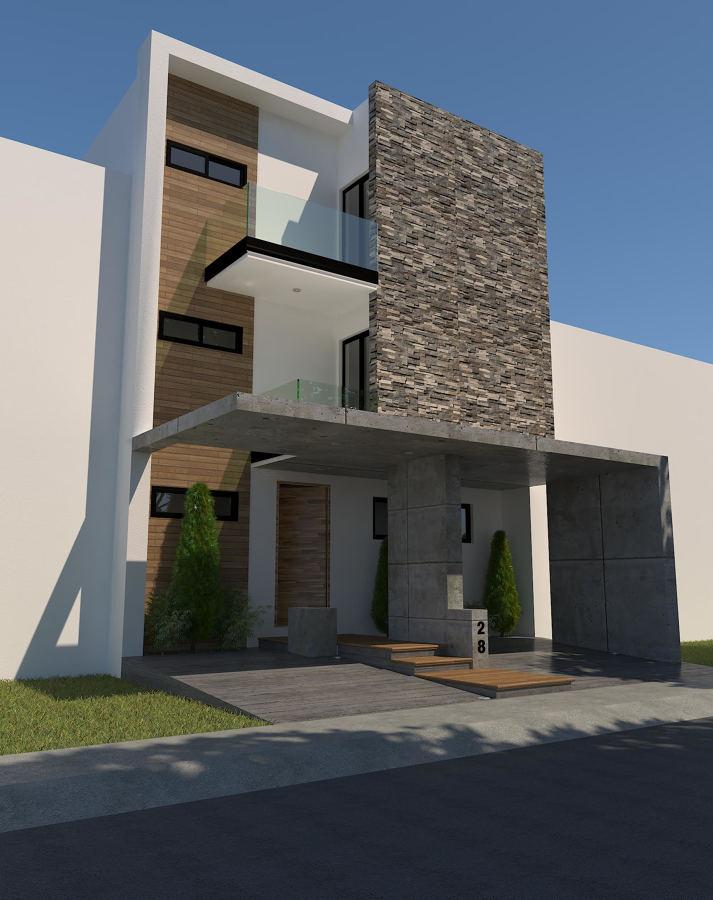 Fachada Principal Proyecto Casa Dr Sanchez (Residencial AQUA)