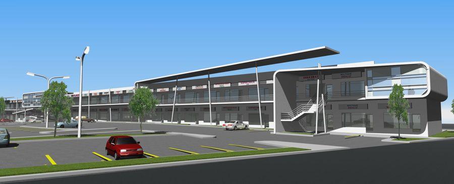 Plaza comercial en apodaca ideas construcci n edificio for Locales comerciales modernos exterior