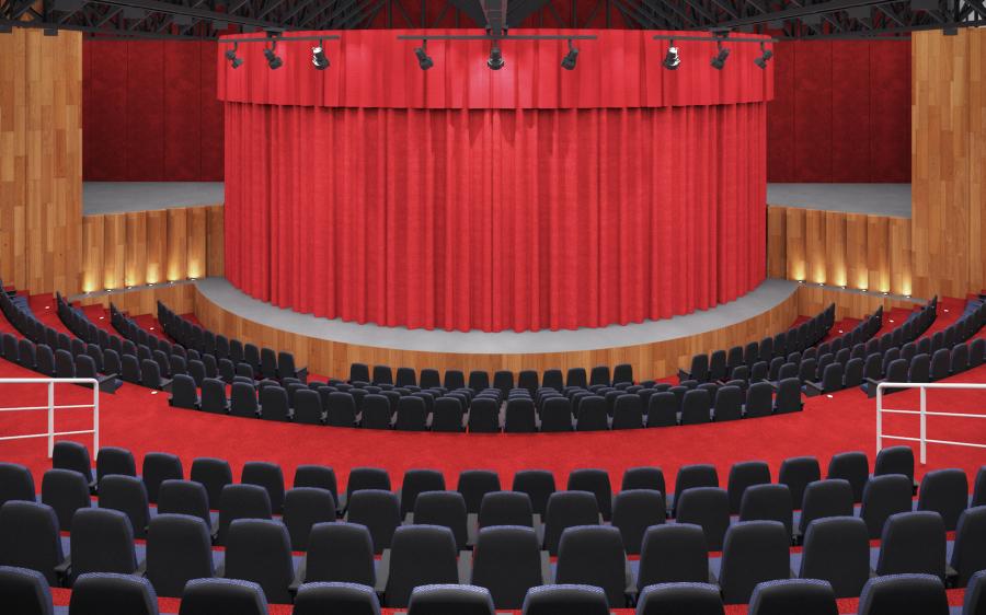 Frente de Auditorio Render