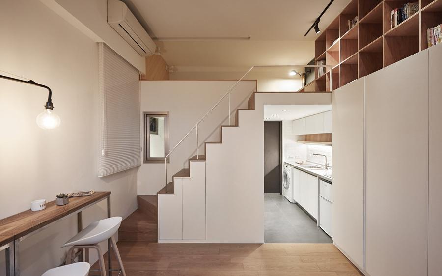 Departamento pequeño con dos niveles