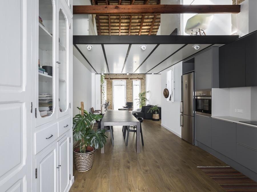 Loft con recámara en nivel superior