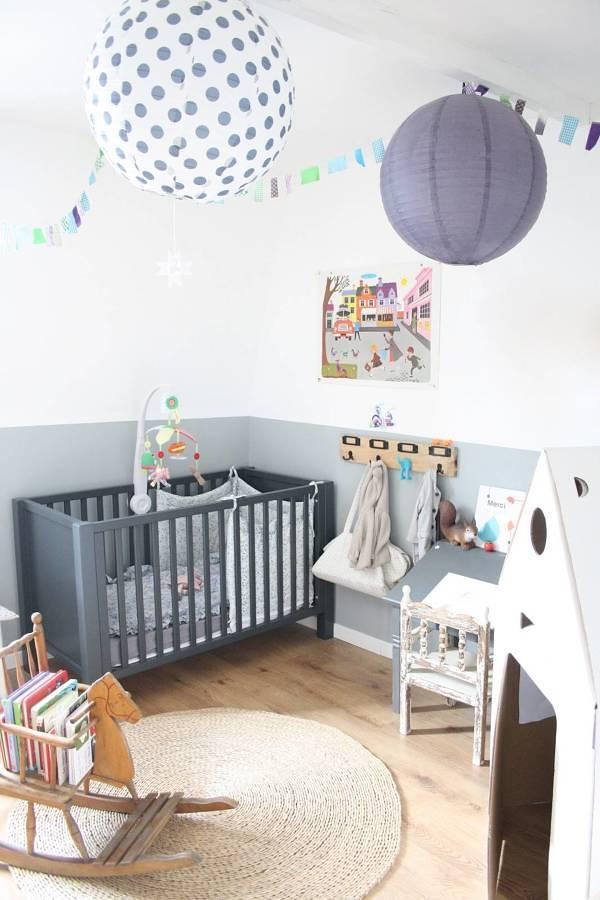 Foto rec mara para beb decorada en color gris 236051 for Recamaras para bebes