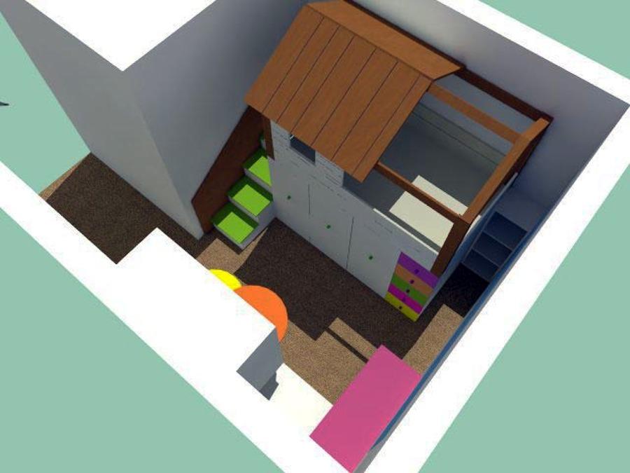 Proyecto de habitaci n para ni a 5 a os ideas dise o de - Proyecto de diseno de interiores ...
