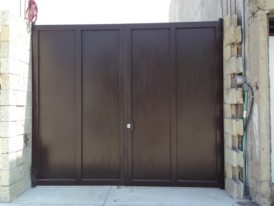 Herreria en puertas y portones ideas arquitectos for Modelos de portones metalicos para casas