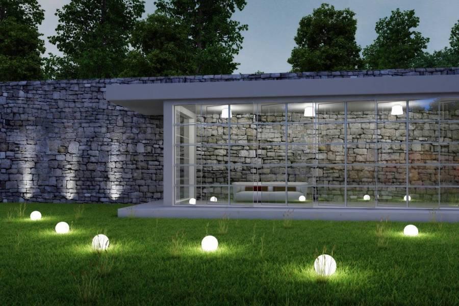 iluminación jardin