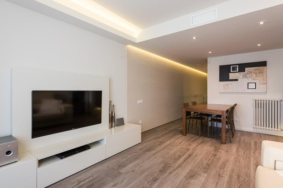 Iluminación LED integrada en el techo