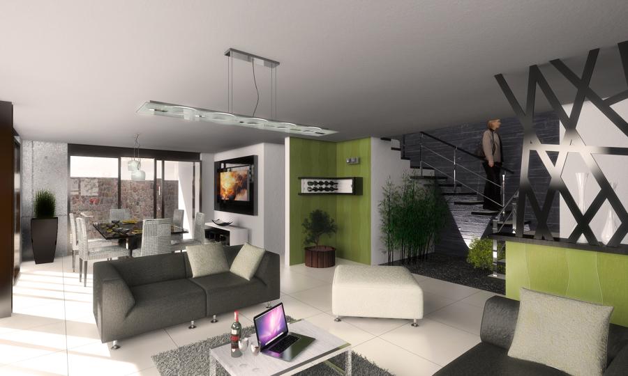 Imagen render de la propuesta interior de diseño