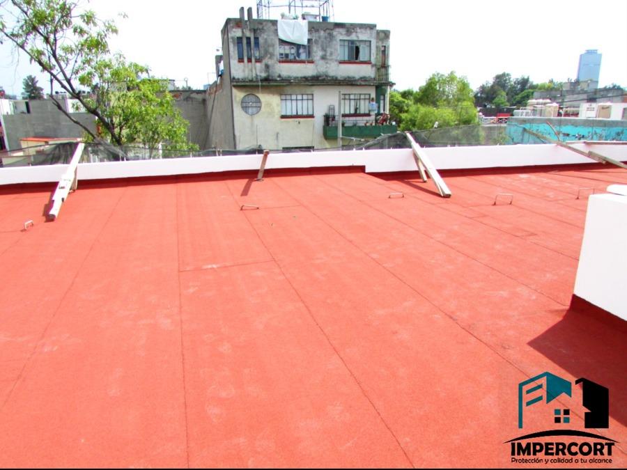Impermeabilización con productos prefabricados color terracota 4.0 mm