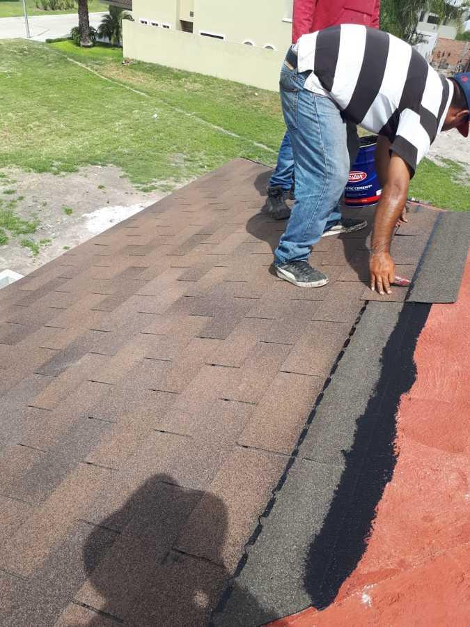 Impermeabilización con teja asfaltica