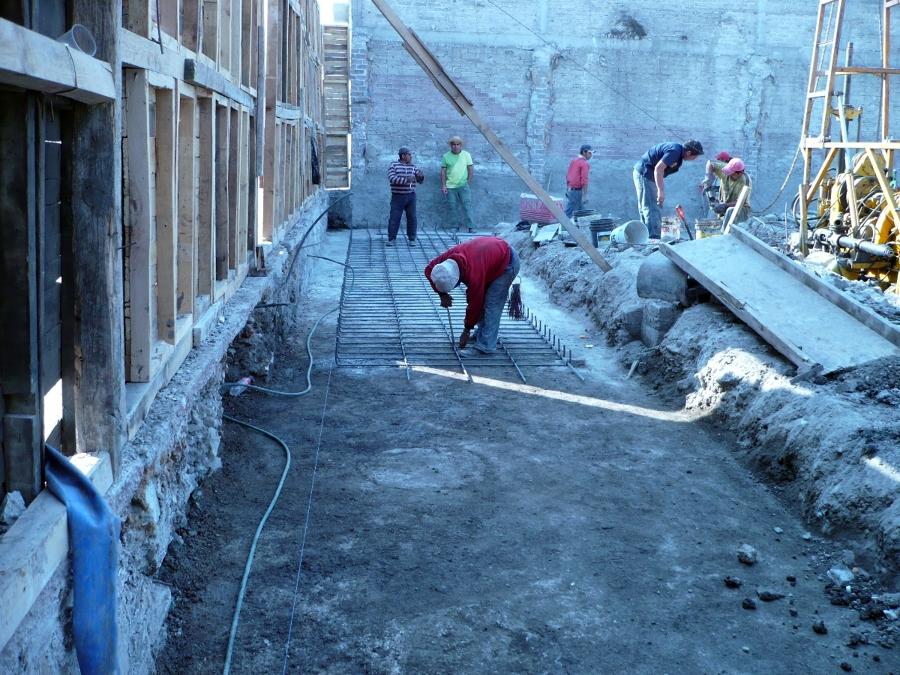 Instalación de Malla para firme de piso