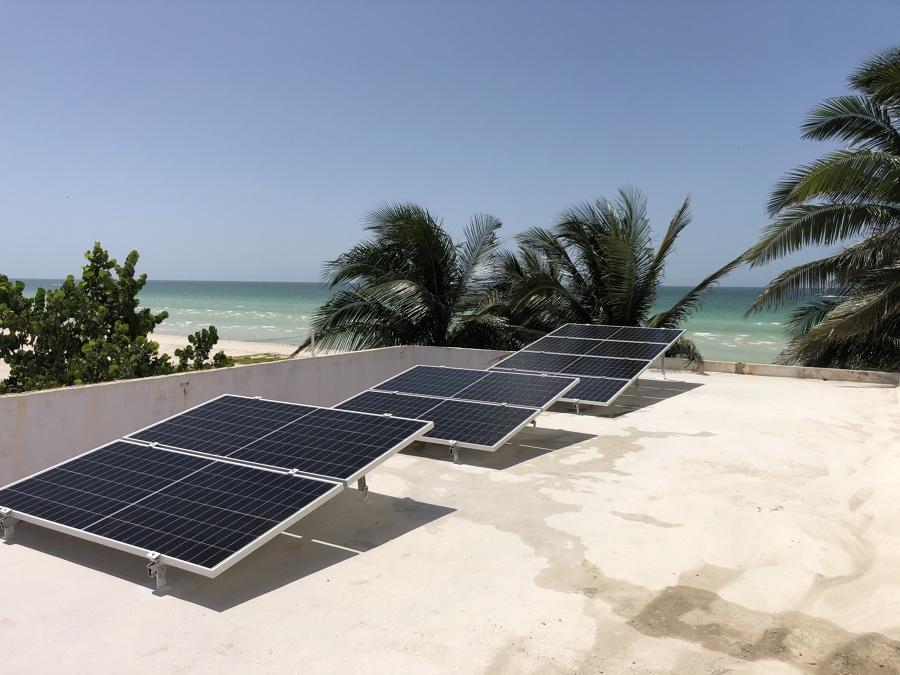 Instalacion de Paneles solares en Progreso Yucatan 1