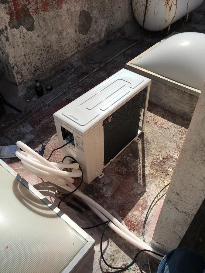 Instalacion de Unidad de Aire Acondicionado Inverter