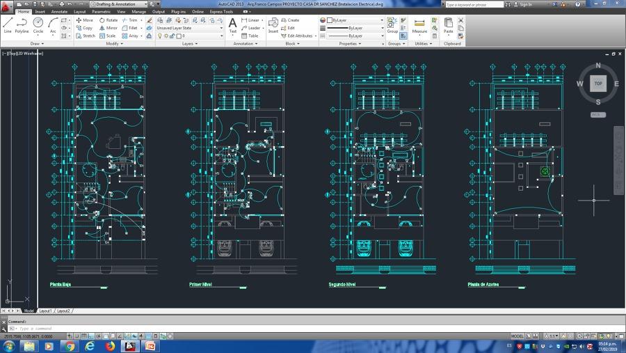 Instalación Eléctrica Proyecto Casa Dr Sanchez (Residencial AQUA)