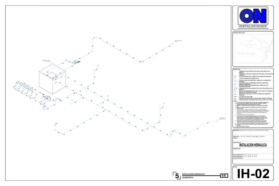 Instalación Hidráulica - Isometrico