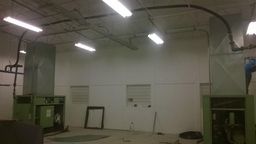 Instalando ductos en compresores