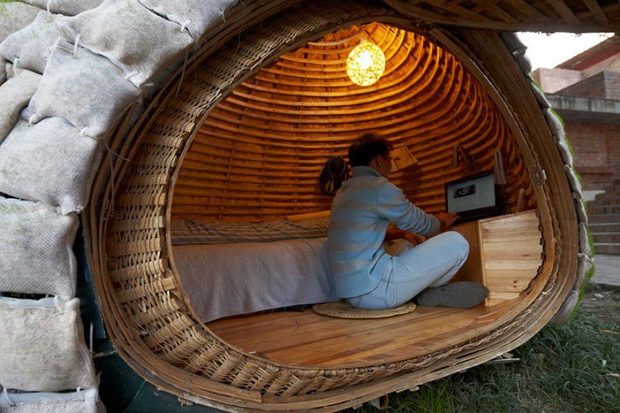interior casa huevo