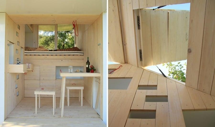 Foto interior casa peque a de madera 114410 habitissimo for Casas de madera pequenas