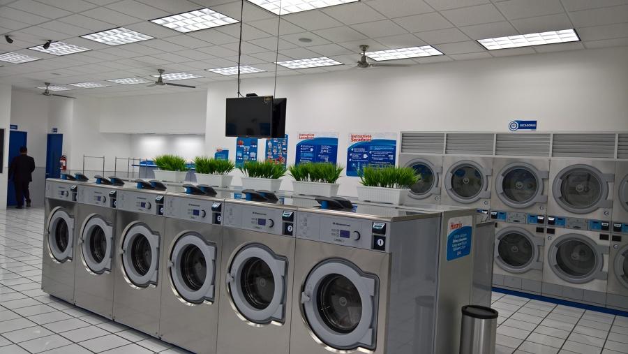 Interior de la lavandería