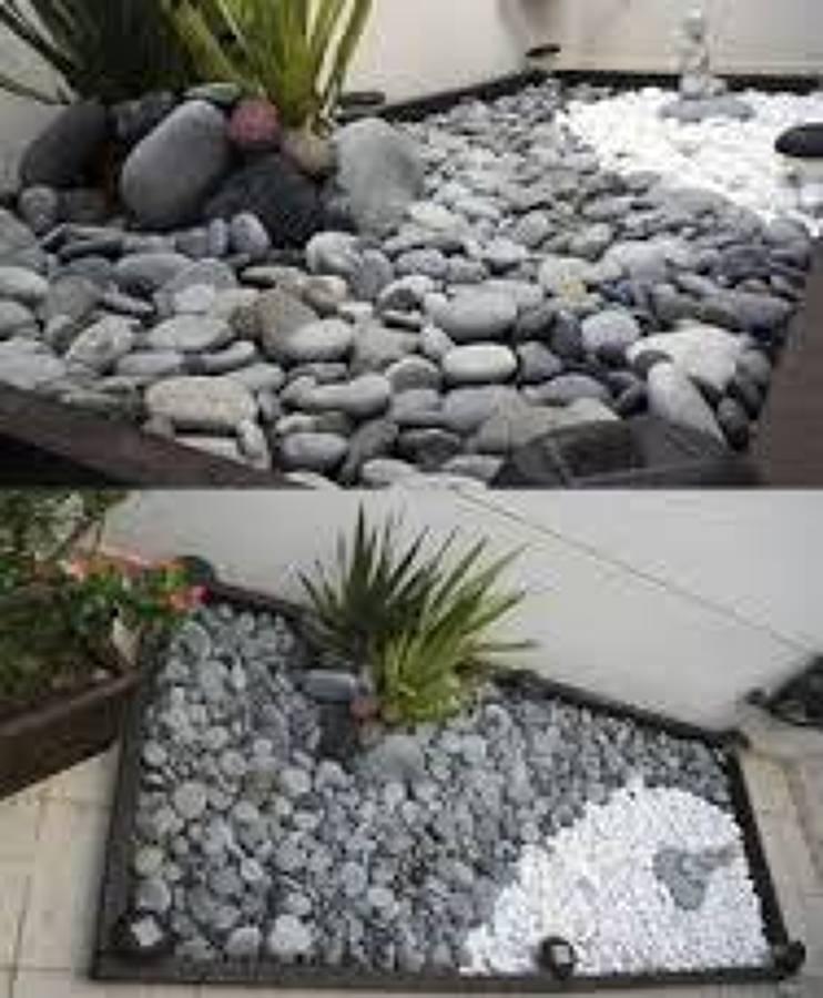 jardinera de piedras naturales