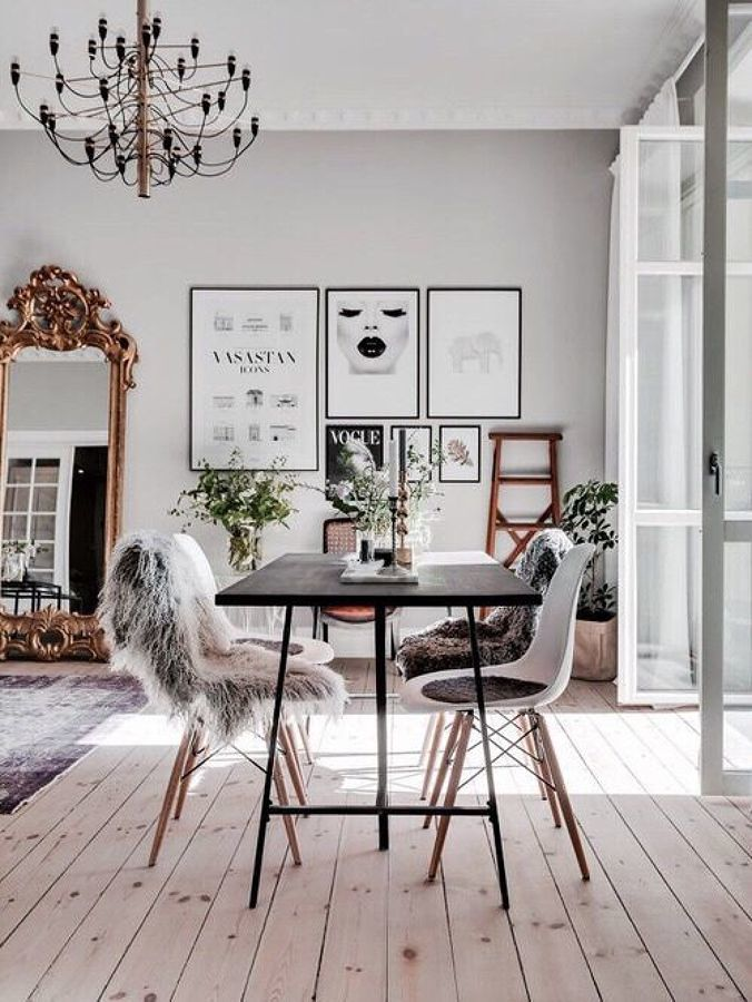 Hogar decorado con gris sereno
