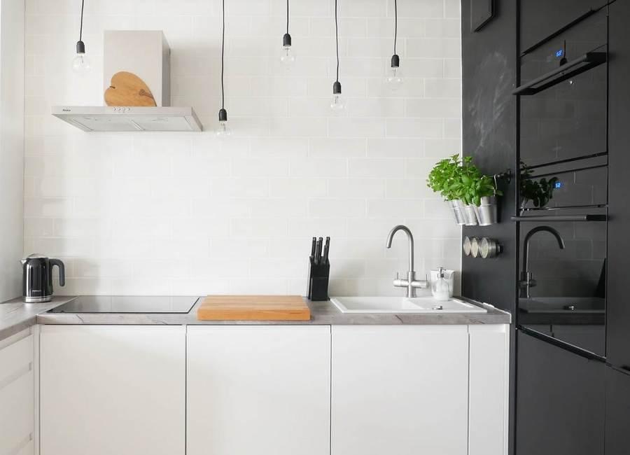 Foto cocina con l mparas colgantes 232704 habitissimo - Lamparas colgantes cocina ...
