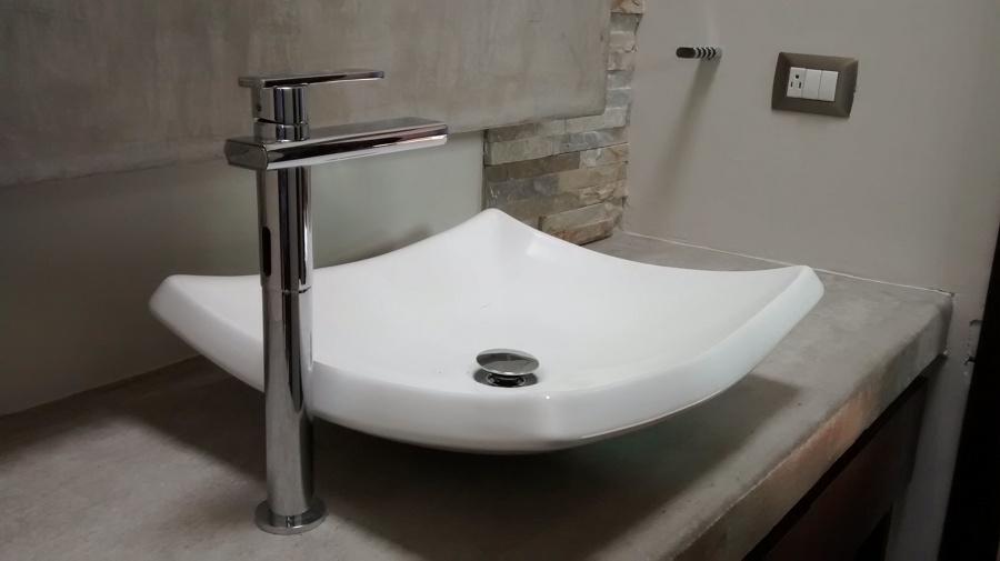 Lavabos Para Baño Helvex:de baño compartido, colocando lavabo de sobreponer en cubierta de