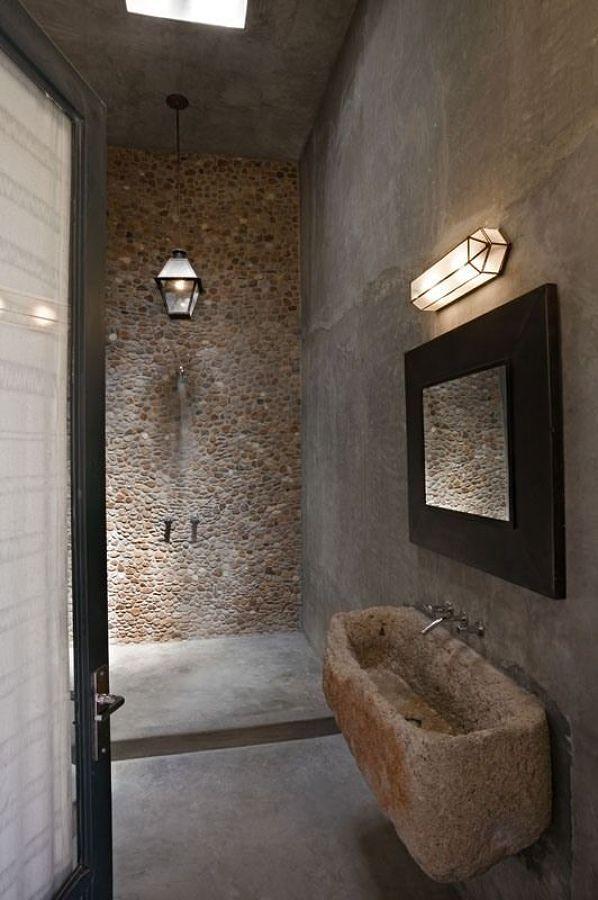 Lavabos de piedra natural para ambientes r sticos ideas - Lavabos de piedra ...