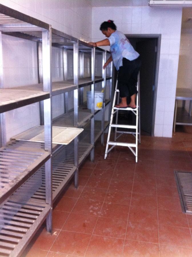 Foto limpieza de cocina industrial estantes de promultisa - Limpieza de cocina ...