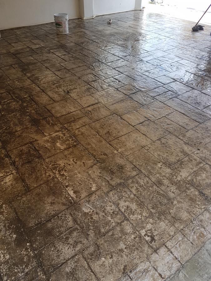 Limpieza piso estampado