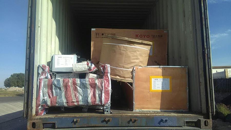 Llegando los contenedores