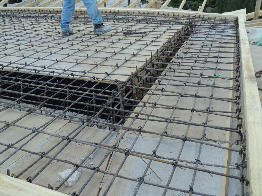 Foto losa maciza de concreto armado de construcci n for Como se construye una piscina de concreto