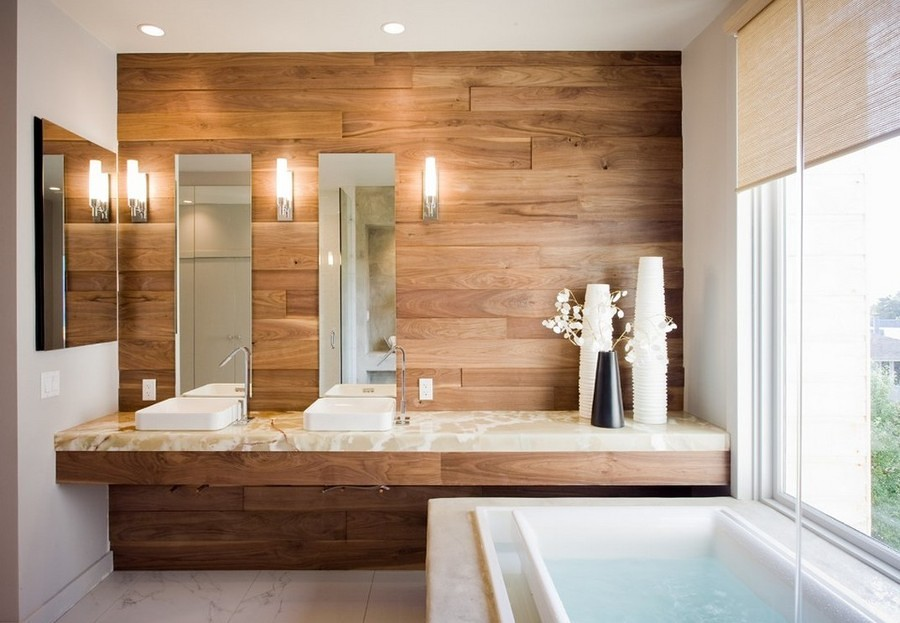 madera en bano