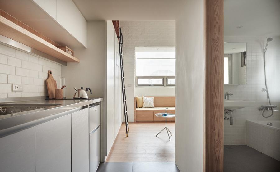 Departamento pequeño con madera