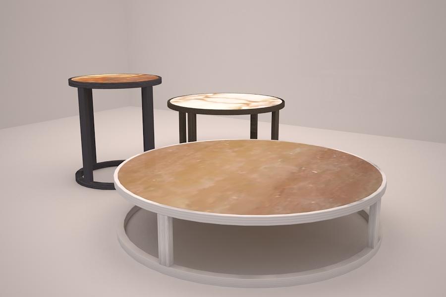 Foto mesas auxiliares y de centro de creativa tres for Mesas de centro y auxiliares