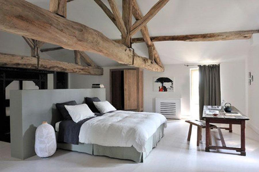 Foto modelo de rec mara en caba a r stica de sustentable edificaci n inteligente 133997 for Deco slaapkamer chalet