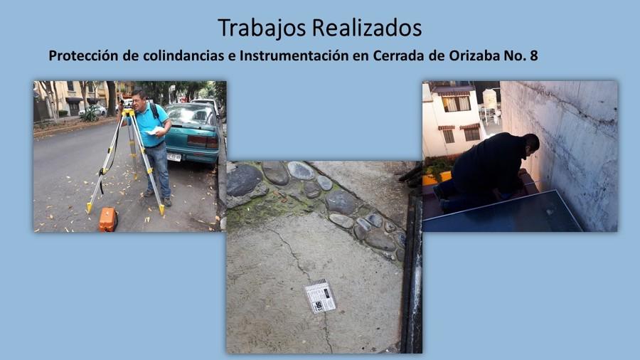 Monitoreo de asentamiento por afectación de edificios colindantes