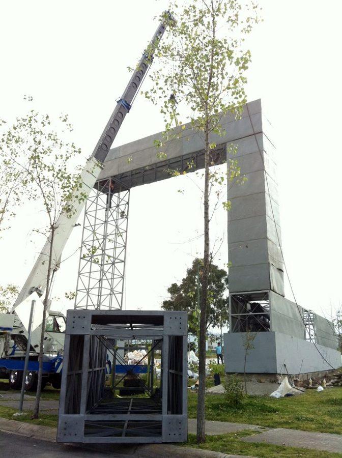 Montaje de estructura para jardín vertical.