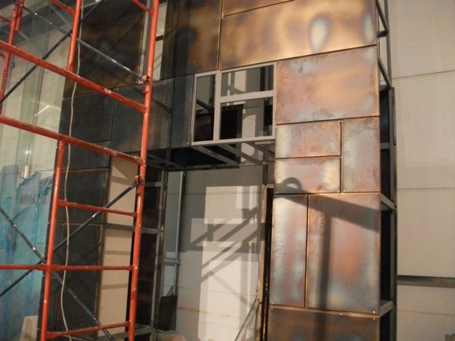Montaje fachada interior