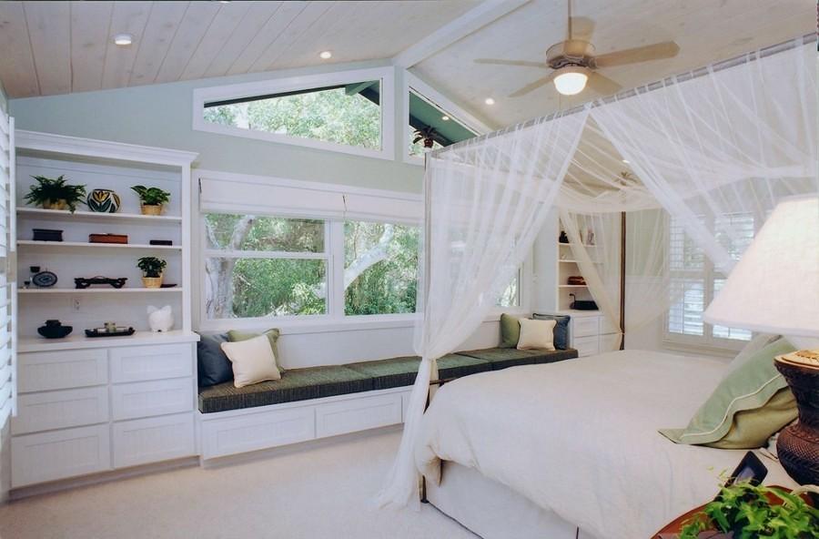 Foto cama con mosquitero en dosel 238778 habitissimo - Orientacion cama dormir bien ...