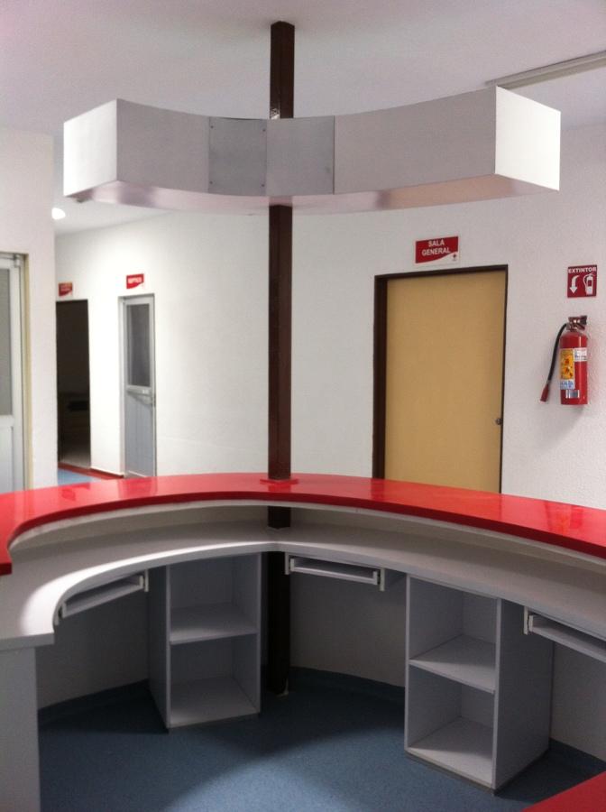 Mueble de recepción Cruz Roja Mexicana SLP