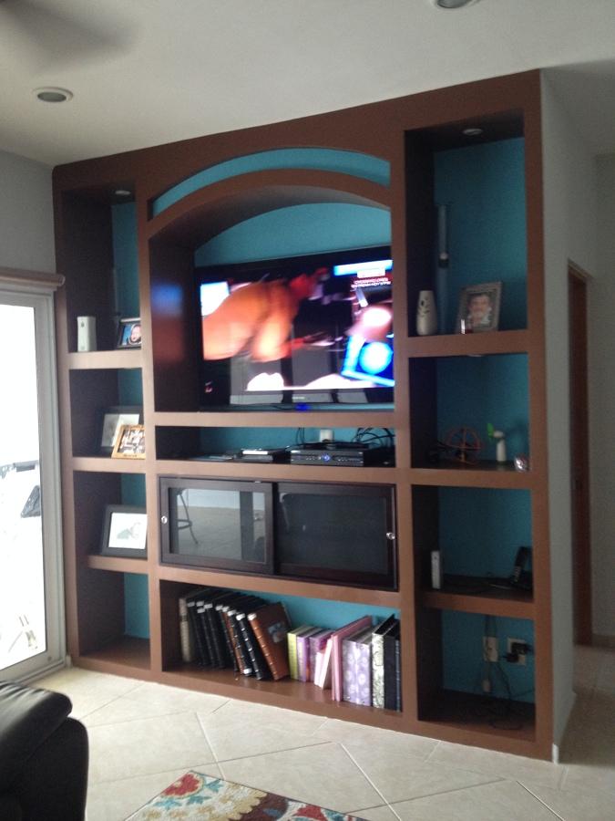 Foto mueble tablaroca terminado de servitec mx 87173 for Remodelacion de muebles de sala