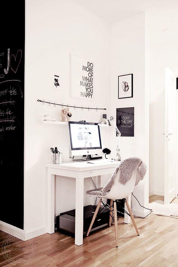 Zona de trabajo en casa estilo nórdico