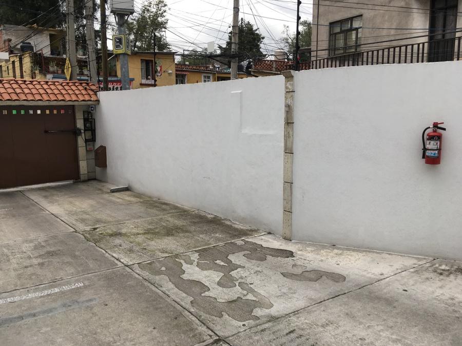 Muro antes de la obra