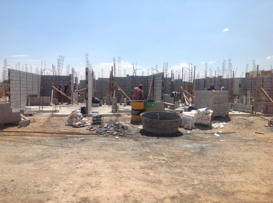 Muros de block de concreto hueco