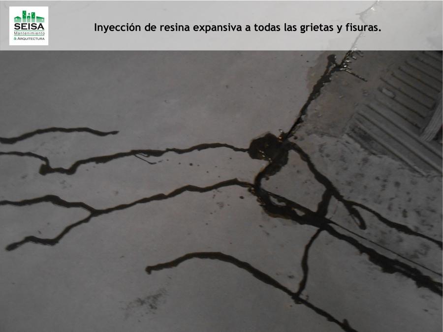 Inyección de resina